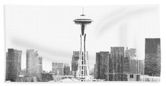 Seattle Skyline Splash And Dash Beach Sheet