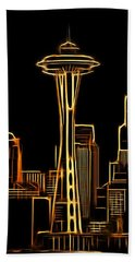 Aaron Berg Photography Beach Towel featuring the photograph Seattle Space Needle 3 by Aaron Berg