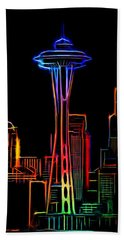Aaron Berg Photography Beach Towel featuring the photograph Seattle Space Needle 4 by Aaron Berg