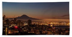Seattle Warm Sunrise From Kerry Park Beach Towel by Mike Reid