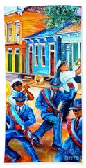 Second Line In Treme Beach Towel
