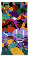 Second Line New Orleans Beach Towel