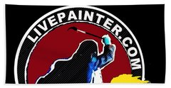 second Official Live Painter Logo  Beach Towel