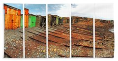 Beach Sheet featuring the photograph Second Valley Boat Sheds by Stephen Mitchell