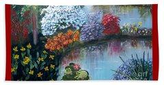 Secret Garden Beach Towel by Phyllis Kaltenbach