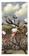 Secret Of The Mockingbird Beach Towel
