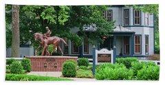 Secretariat Statue At The Kentucky Horse Park Beach Sheet