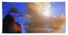 Sedona Mountain Cloud Sun Beach Towel