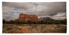 Sedona National Park Arizona Red Rock 2 Beach Sheet by David Haskett
