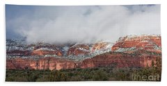Beach Towel featuring the photograph Sedona Revealed by Sandra Bronstein