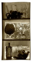 Beach Towel featuring the photograph Sedona Series - Window Display by Ben and Raisa Gertsberg