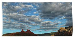 Beach Towel featuring the photograph Sedona Skies 0013 by Tom Kelly