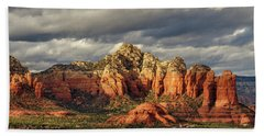 Beach Towel featuring the photograph Sedona Skyline by James Eddy