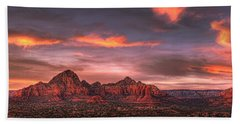 Sedona Sunset Panorama Beach Towel