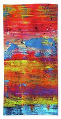 Beach Towel featuring the painting Sedona Trip by Everette McMahan jr