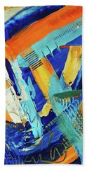 Beach Towel featuring the painting Sedonaize by Everette McMahan jr