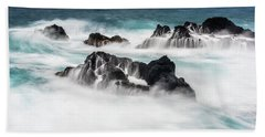 Beach Towel featuring the photograph Seduced By Waves by Jon Glaser