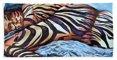 Seduction Of Stripes Beach Towel