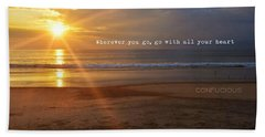 See You Next Year Quote Beach Sheet