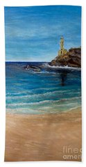 Seek A Source Of Light Built On A Firm Foundation To Guide You Safely To Shore Beach Towel by Kimberlee Baxter