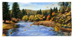 Seeley Montana Fall Beach Towel by Susan Kinney