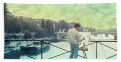 Seine River Inspiration Beach Towel