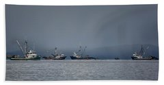 Beach Sheet featuring the photograph Seiners Off Mistaken Island by Randy Hall