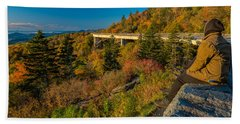 Seize The Day At Linn Cove Viaduct Autumn Beach Towel