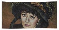 Self-portrait A La Camille Claudel Beach Sheet
