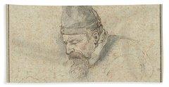 Self Portrait Of Henry Avercamp, Hendrick Avercamp, 1592-1629 Beach Sheet