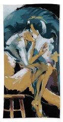 Self Reflection - Of A Dancer Beach Towel