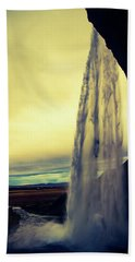 Seljalandsfoss Sunset Beach Towel