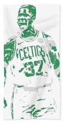 Semi Ojeleye Boston Celtics Pixel Art 1 Beach Towel
