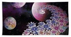 Beach Towel featuring the digital art Seminal Flowers by Rosa Cobos