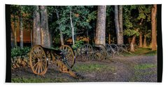 Beach Sheet featuring the photograph Seminary Ridge Artillery by Rob Sellers