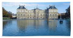 Senat From Jardin Du Luxembourg Beach Towel by Christopher Kirby