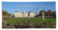 Senate From Jardin Du Luxembourg Beach Towel by Christopher Kirby