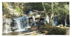 Delaware Falls 2 - Ricketts Glen Beach Towel