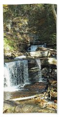 Delaware And Seneca Falls 3 - Ricketts Glen Beach Towel