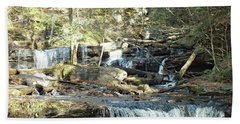 Delaware Falls 4 - Ricketts Glen Beach Towel