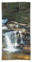 Delaware And Seneca Falls - Ricketts Glen Beach Towel