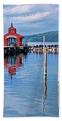 Seneca Lake Harbor Beach Towel