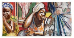 Beach Towel featuring the painting Senegal, 1965 by Gary Coleman