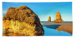 Sentinels Of Land And Sea Beach Towel