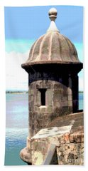 Beach Sheet featuring the photograph Sentry Box In El Morro by The Art of Alice Terrill