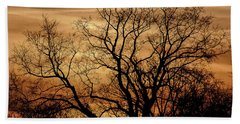 Beach Towel featuring the photograph Sepia Sunset by Michael Nowotny
