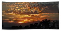 Beach Towel featuring the photograph Sept Sunset by Yumi Johnson