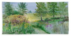 September At Kickapoo Creek Park Beach Towel