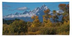 September Colors In Grand Teton National Park Beach Sheet