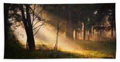 Beach Towel featuring the painting September Impressions by Rosario Piazza
